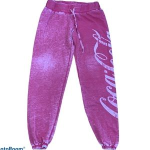 Coca Cola Vintage Distressed Joggers Size XS